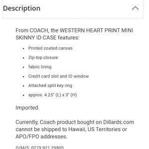 c259a4ea152 Coach Bags - Coach Mini Heart Id